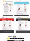 万维网2.0模板装箱 免版税图库摄影