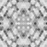 万花筒低多六角形样式传染媒介马赛克 免版税库存图片