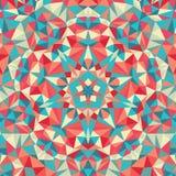 万花筒几何五颜六色的样式 抽象背景 库存图片