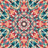 万花筒几何五颜六色的样式 抽象背景 库存照片