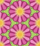 万花筒几何桃红色和绿色无缝的样式 库存例证
