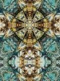 万花筒十字架,黑矽石层数 免版税库存图片