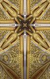 万花筒十字架:泰国亭子细节 库存图片