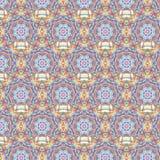 万花筒摩洛哥无缝的样式 免版税库存照片