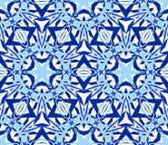 万花筒无缝的样式蓝色 免版税库存图片
