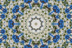 万花筒的花卉样式抽象背景  库存图片