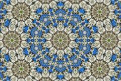 万花筒的花卉样式抽象背景  库存照片