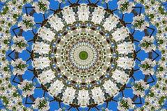 万花筒的花卉样式抽象背景  免版税库存图片