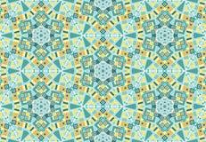 万花筒,复杂的几何无缝的样式 向量例证