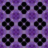 万花筒紫色花背景 Splited五颜六色的照片到瓦片里 库存图片