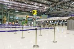 素万那普机场内部 免版税库存照片