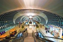 素万那普机场内部 图库摄影