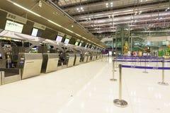 素万那普机场内部 免版税库存图片