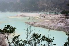 万隆火山口印度尼西亚白色 免版税库存照片