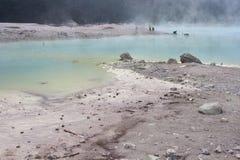 万隆火山口印度尼西亚白色 免版税图库摄影