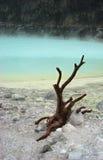 万隆火山口印度尼西亚白色 库存图片