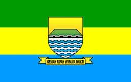 万隆,印度尼西亚旗子  库存例证