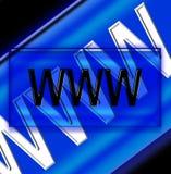 万维网3 库存图片