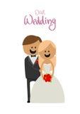 丈夫和妻子一起幸福婚礼的  免版税库存照片