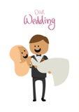 丈夫和妻子幸福乐趣婚礼的  库存图片