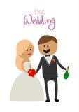 丈夫和妻子幸福婚礼的喝 库存图片