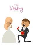 丈夫和妻子幸福婚礼的  图库摄影