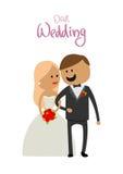 丈夫和妻子幸福花婚礼的  图库摄影