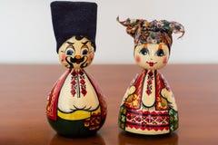 丈夫和妻子matryoshka 免版税库存图片