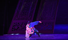 """丈夫唱歌的和妻子对跟随舞蹈戏曲海丝绸Road† """"The梦想  免版税图库摄影"""