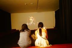 丈夫基思 图象在深圳举行的汇集陈列的哈恩,他宁乡县美术馆,中国 库存图片