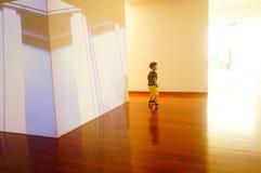丈夫基思 图象在深圳举行的汇集陈列的哈恩,他宁乡县美术馆,中国 免版税库存照片