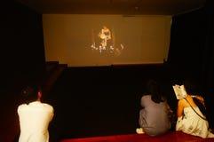 丈夫基思 图象在深圳举行的汇集陈列的哈恩,他宁乡县美术馆,中国 图库摄影