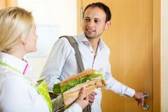 丈夫的可口三明治 库存照片