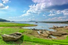 三一个湖在越南 库存图片
