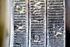 三一欧元硬币 免版税图库摄影