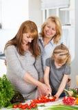 三一代家庭 免版税库存照片