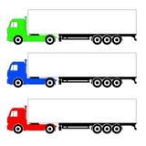 三不同颜色卡车 光栅 免版税图库摄影