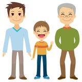 三个一代人 免版税库存图片