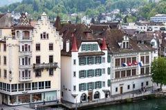 三个不同历史建筑在卢赛恩 免版税图库摄影