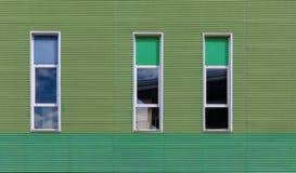 三个不对称的窗口 免版税库存照片
