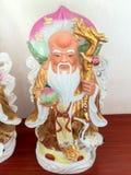 三个中国幸运神好运傅、Hok,繁荣Lu, Lok和长寿Shou, Siu 免版税库存照片