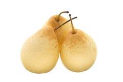 三个中国梨 免版税库存照片
