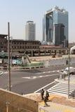 三个人在镇(大阪-日本)里 库存图片