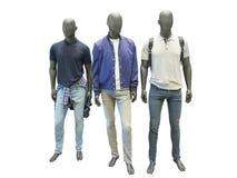 三个人时装模特 免版税图库摄影