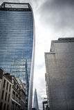 三个伦敦摩天大楼 库存照片