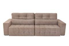 三个位子舒适棕色沙发 免版税图库摄影