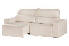 三个位子舒适灰棕色 免版税库存照片