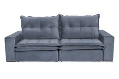 三个位子舒适灰色蓝色 图库摄影