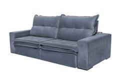 三个位子舒适灰色蓝色 免版税库存图片