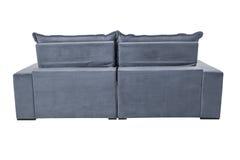 三个位子舒适灰色蓝色 免版税库存照片